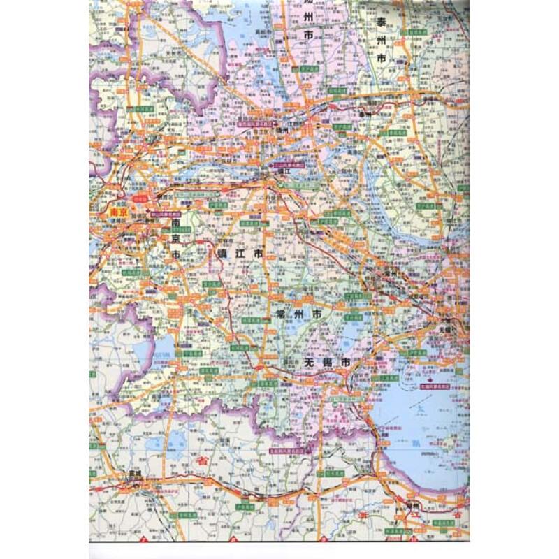 江苏省地�_北斗·目的地地图:江苏省交通旅游图