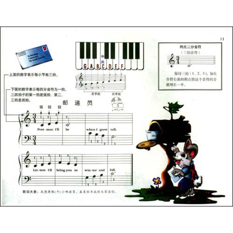 约翰·汤普森幼儿钢琴入门指导1(附光盘1张)图片