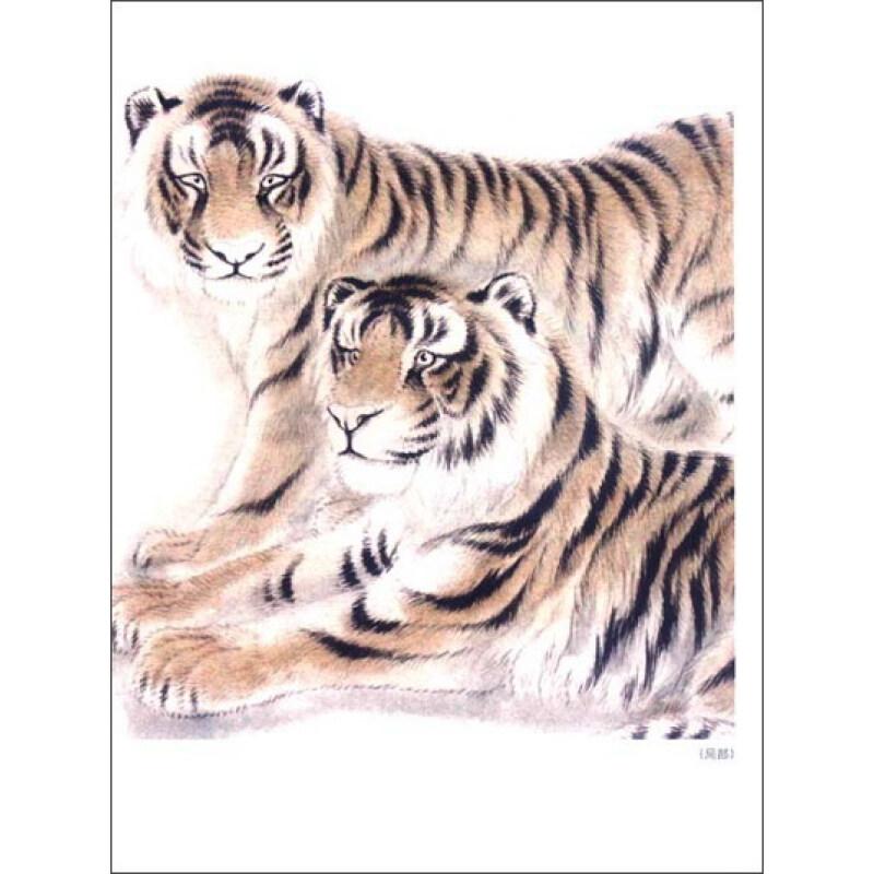中国画技法 工笔老虎画法 摘要图片