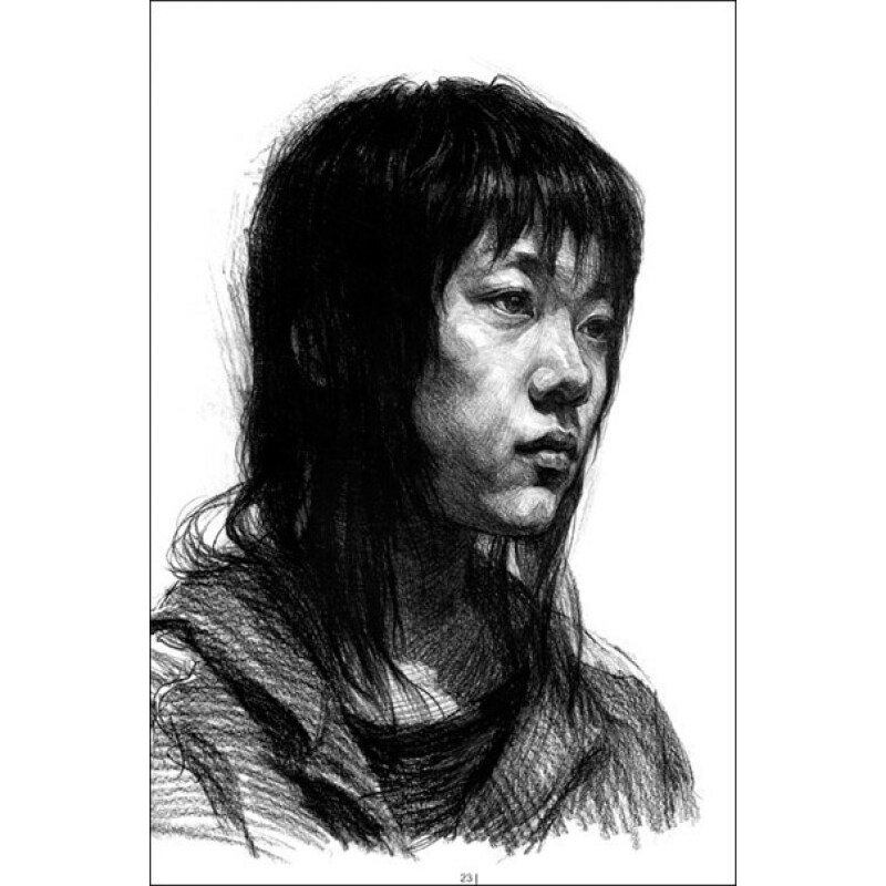 颈部的结构 眼睛的画法 耳朵的画法 嘴的画法 鼻子的画法 素描人物