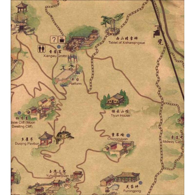 《北京手绘旅游地图:走进香山》【摘要