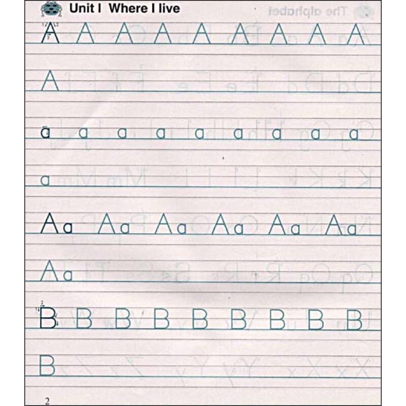 牛津英语同步抄写本:2年级(第1学期)2a(上海版)图片