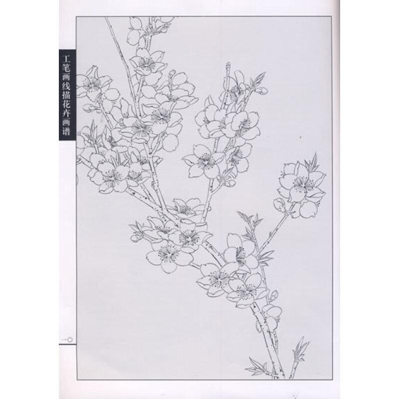 工笔画线描花卉画谱:桃花篇