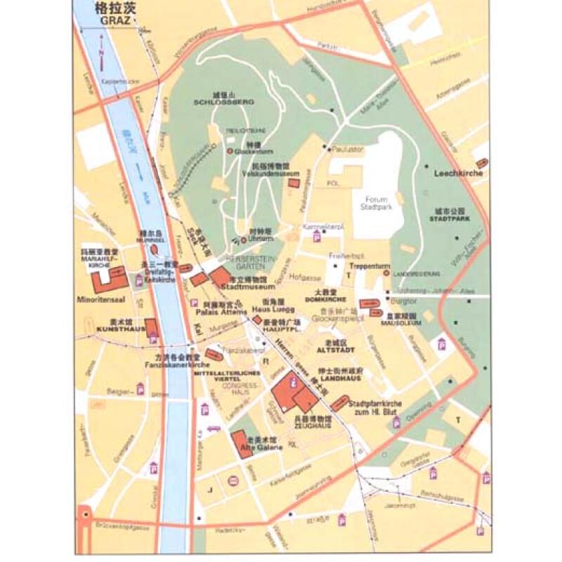 奥地利旅游地图