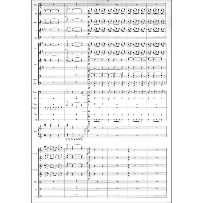 风万里 为管弦乐队与军乐队而作 作品第27号 附军乐队谱