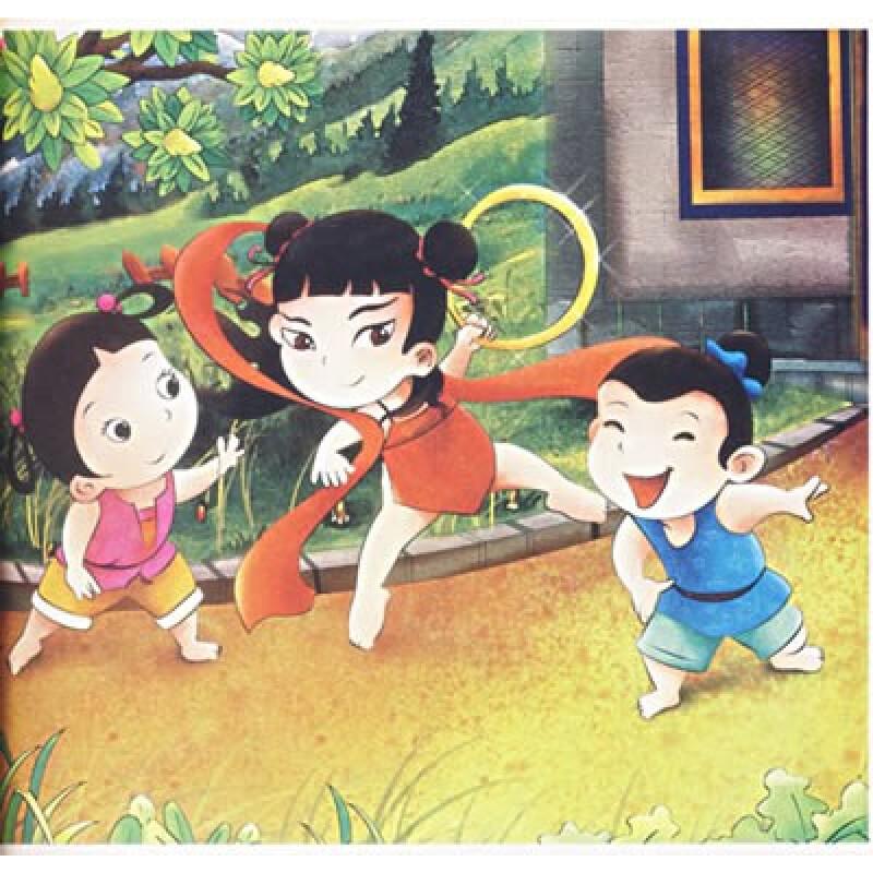 经典童话早认读:智勇小哪吒(附光盘)图片