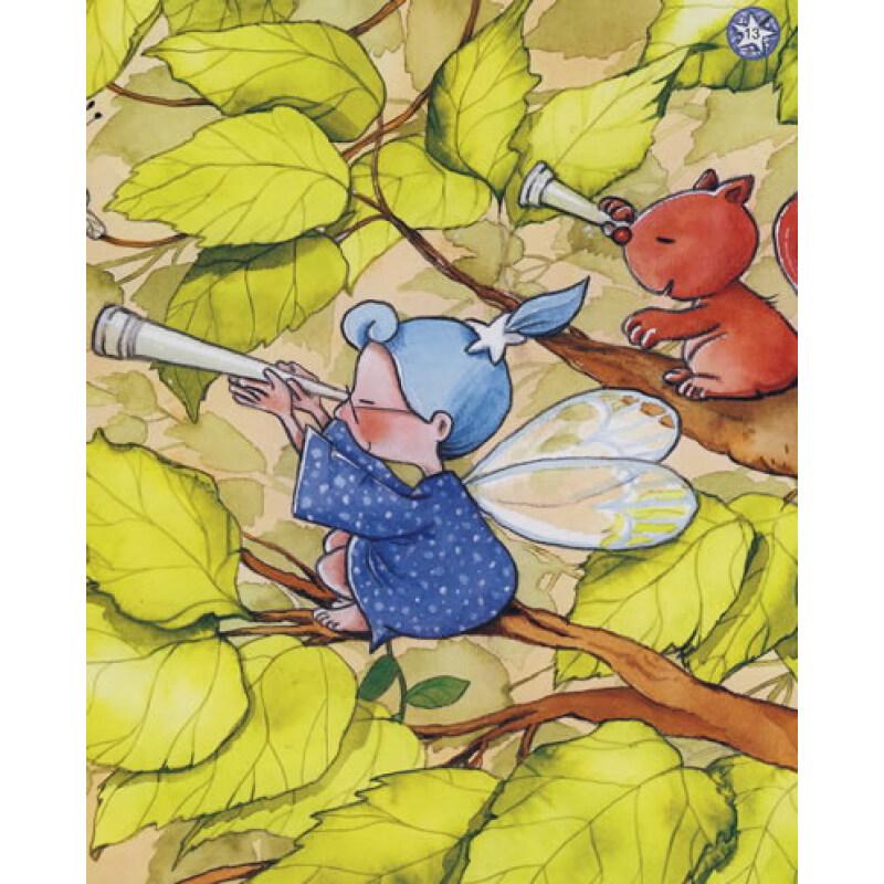 故事中一个小仙子生病了,深林中所有的小仙子和小动物们都忙了起来