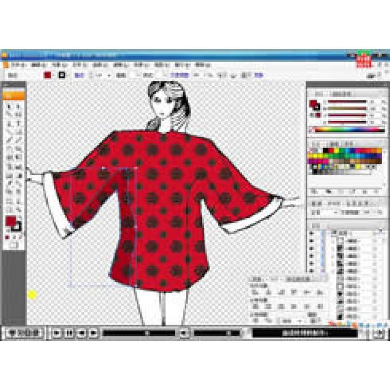 人体童装服装设计手绘图
