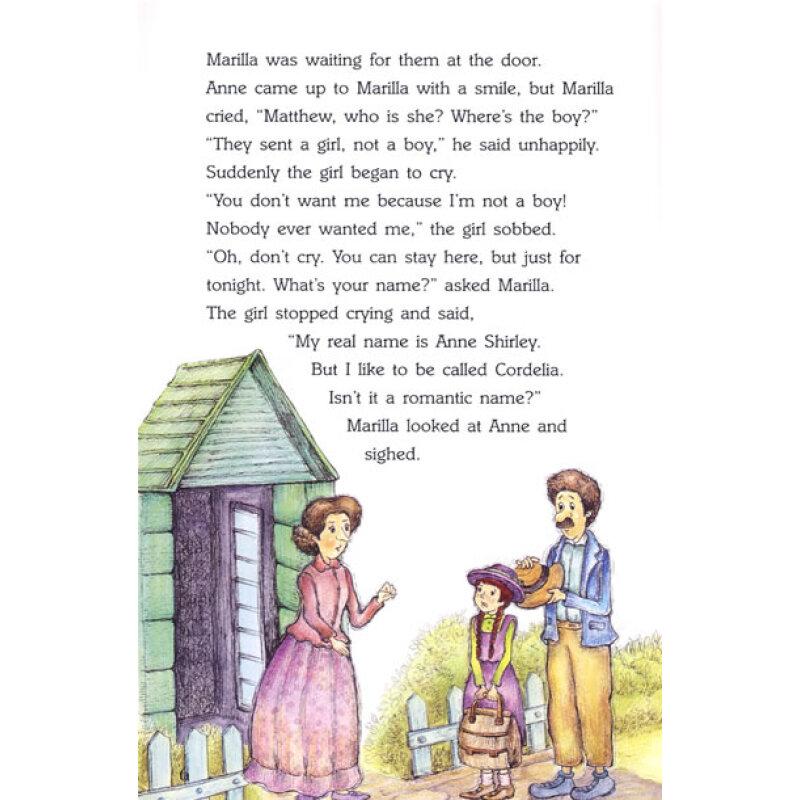 英语名作欣赏 绿山墙的安妮 小学版 附光盘1张