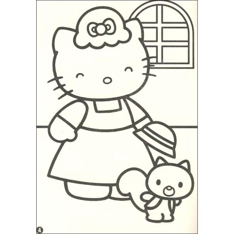 经典卡通明星涂色画册:凯蒂猫的欢乐聚会(附贴纸)