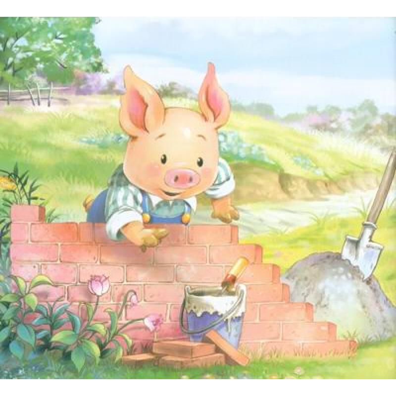 晚安童话:三只小猪图片