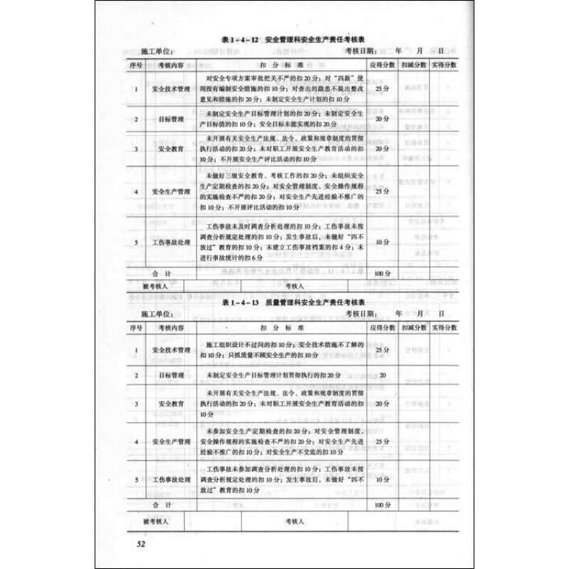 《建筑施工企业管理制度与常用表格大全》(冯