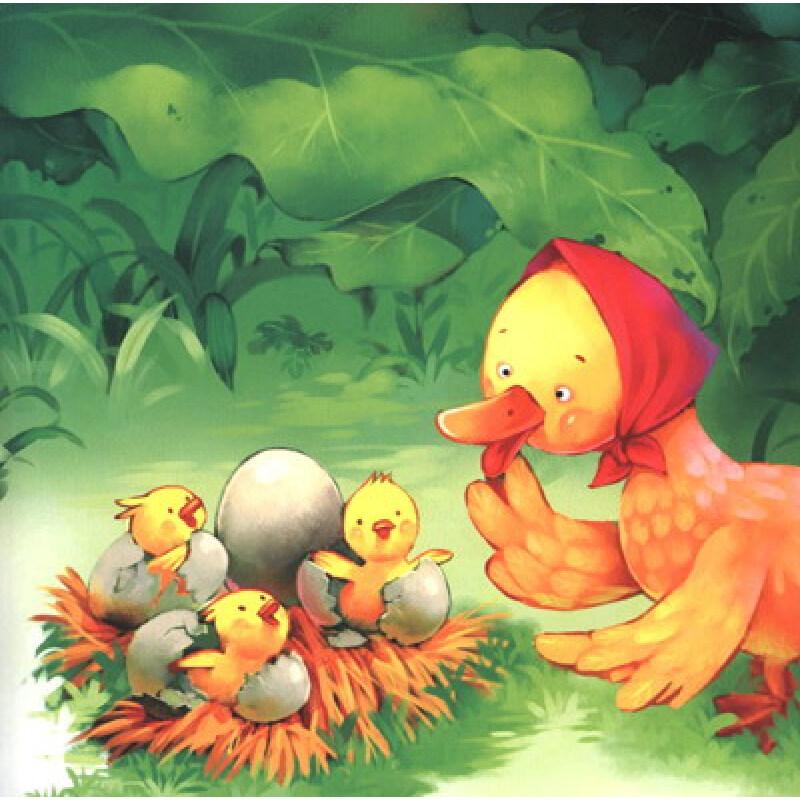 """""""听童话故事·学少儿英语""""系列童话绘本:丑小鸭(附光盘1张)"""