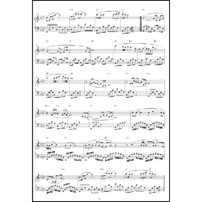 九张机钢琴谱子