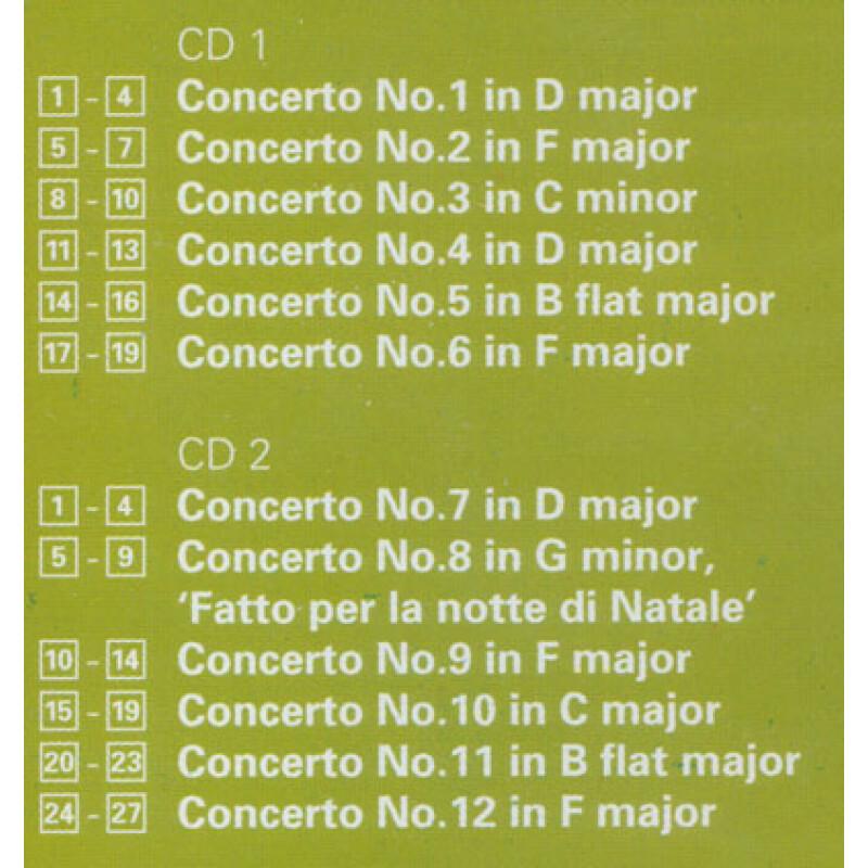 科莱里 12首大协奏曲 2CD