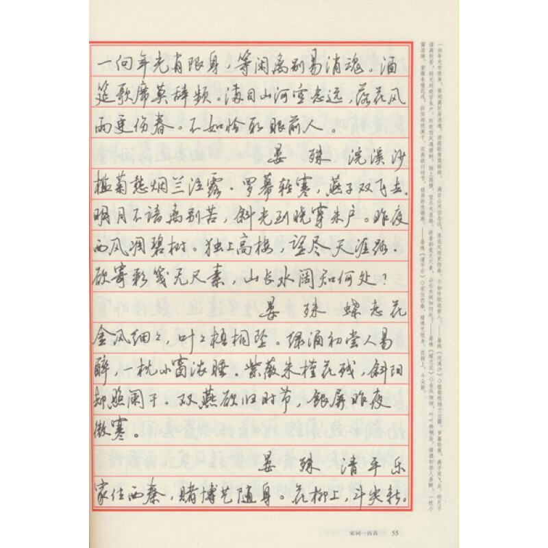 《唐诗宋词钢笔行书字帖》(仲