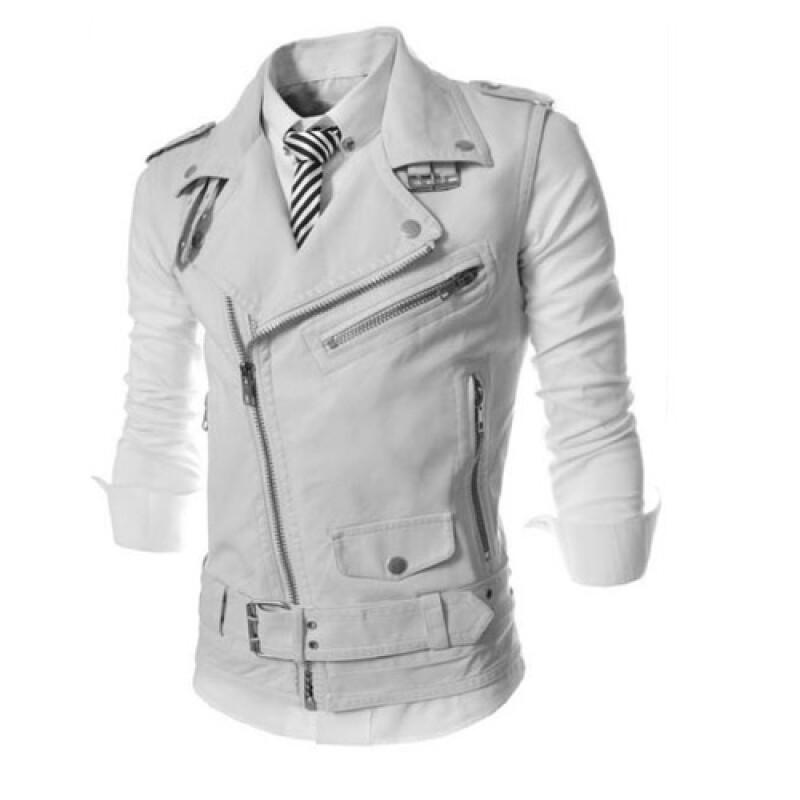 CT&HF Мужчины Мода Досуг ma3 jia3 Корея Красивый Личность ПУ кожаный жилет Мужчины Простой Pure Color молнии Дизайн жилет