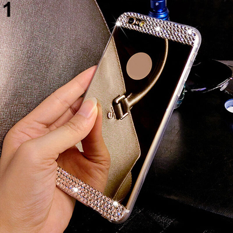 Ultra-thin Mirror Transparent TPU Rhinestone Case Cover for iPhone 5 5S 6 6 Plus - Phone Covers & Cases - Joybuy.com