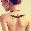 东奇古道天使翅膀纹身贴防水女纹身贴男防水纹身贴纸