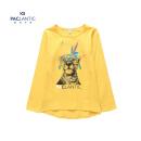 派克兰帝品牌童装 春装秋装男女童logo系列圆领长袖t恤juwi15101 泡泡