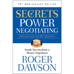 Secrets of Power Negotiating 15th Anniversary Edition  优势谈判,15周年版
