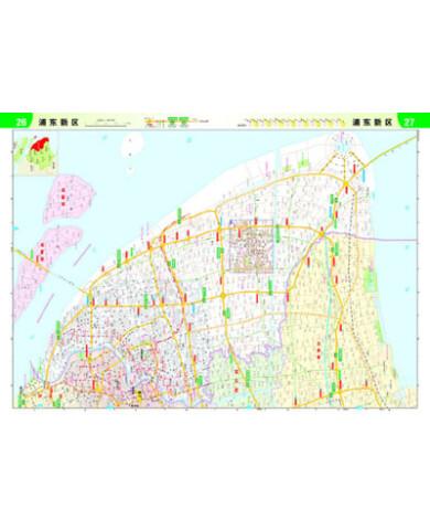 上海和江苏,浙江高速公路及城乡公路网地图册