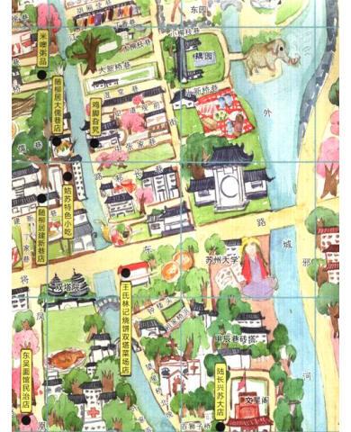 《手绘旅行系列:苏州小吃地图》【摘要