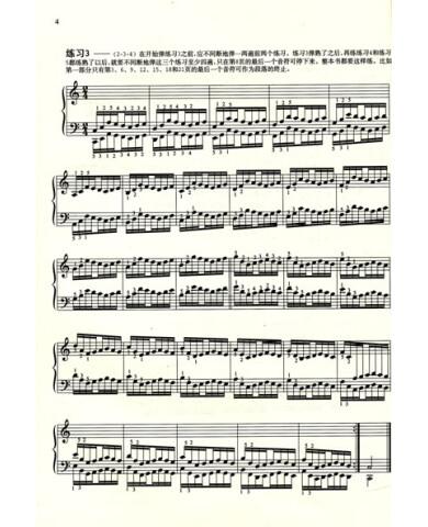 哈农钢琴练指法