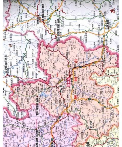 四川省地图(2013新版)》权威的大比例尺行政区划地图,市,县,乡.