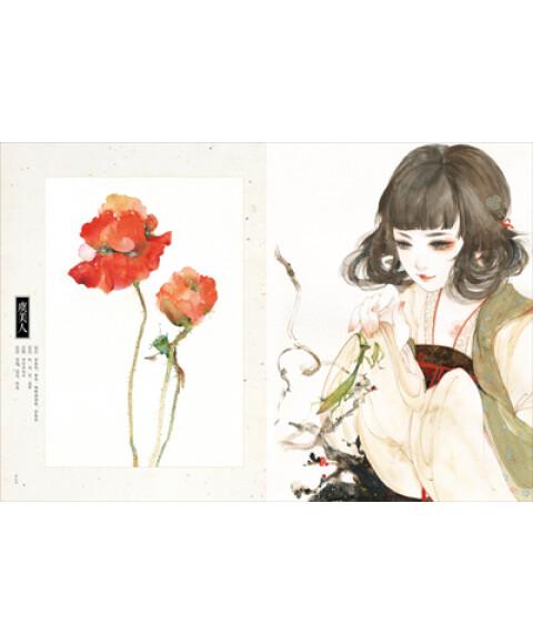 关于花女手绘线稿