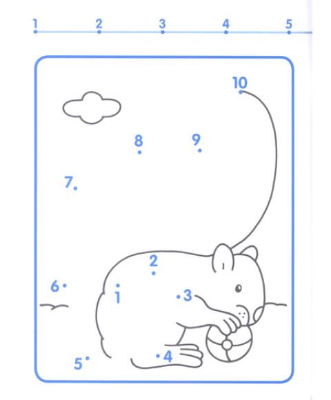 快乐连线游戏:数字1-10(连线·涂色·游戏)(新版)图片