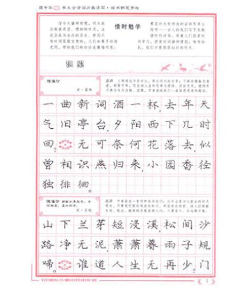 《庞中华:学生古诗词分类读写楷书钢笔字帖》(庞中华图片