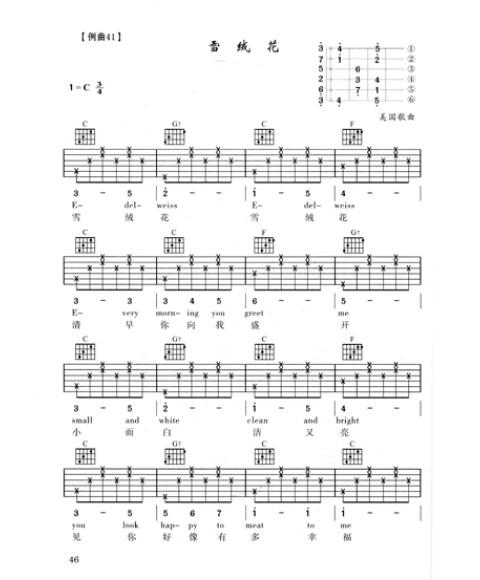 吉他谱 单音练习曲   : 53231323 63231323 43231323 右手这样循环