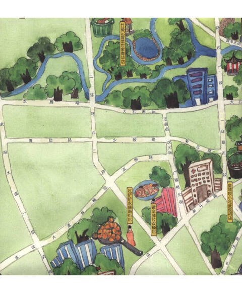 手绘旅行系列:成都小吃地图