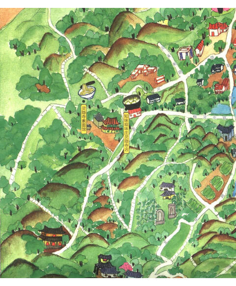 手绘旅行系列:杭州小吃地图