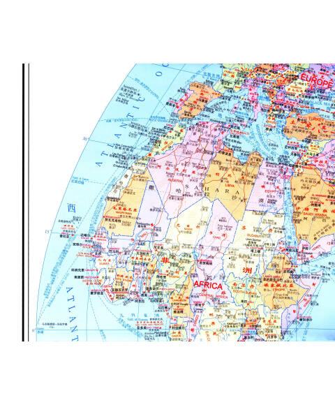 世界地图(中英文)(1:3300万比例尺)