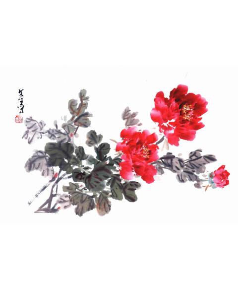 中国画写意大课堂:牡丹图片