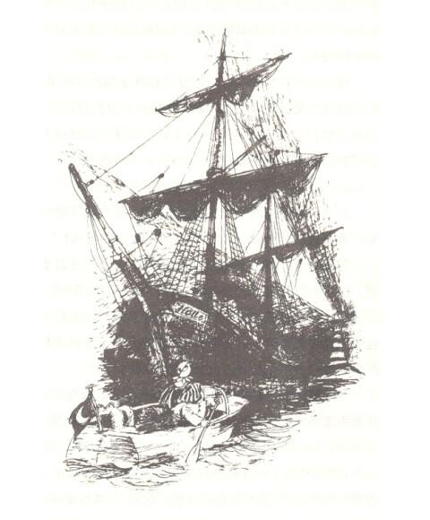 船 帆船 素描 480_580