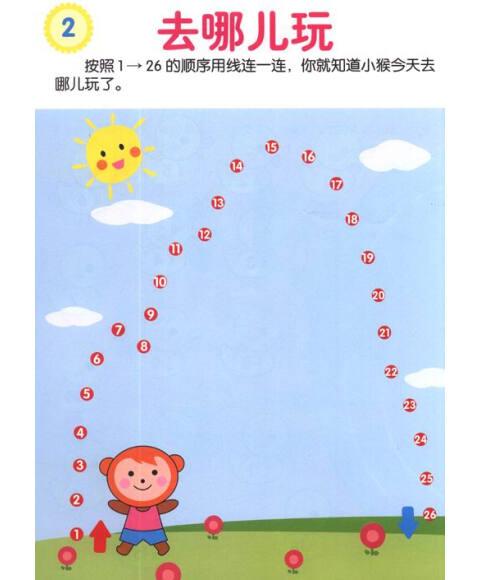 幼儿创造性思维训练:连线(4~5岁)