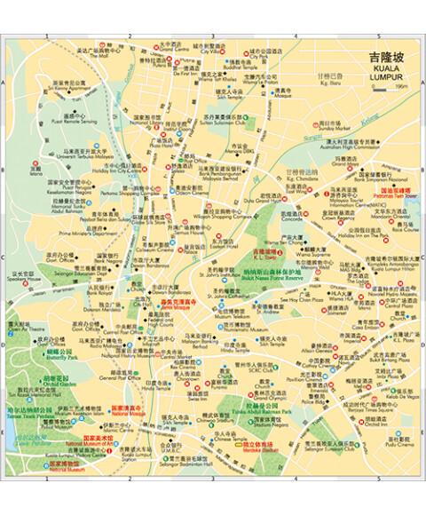 《世界分国地图:马拉西亚