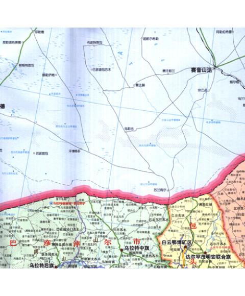 旅游/地图 分省/区域/城市地图 内蒙古自治区地图 新版