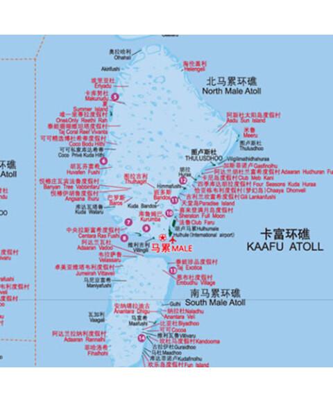 《世界分国地图:马尔代夫》【摘要
