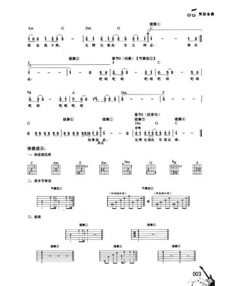 欢乐颂吉他乐谱0