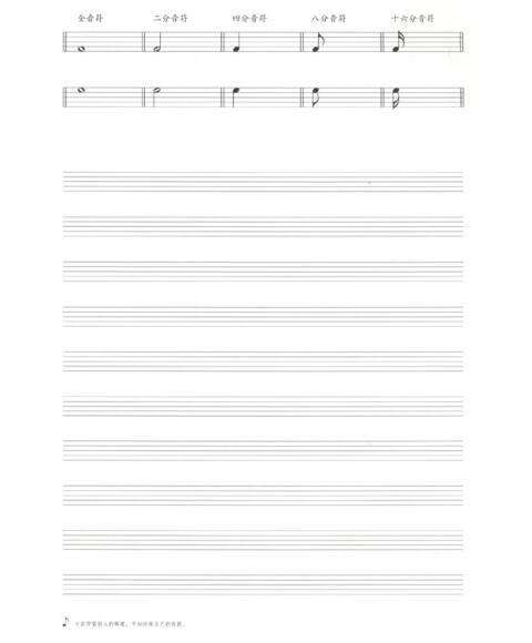 《五线谱本:音乐基础知识(成人版)》【摘要