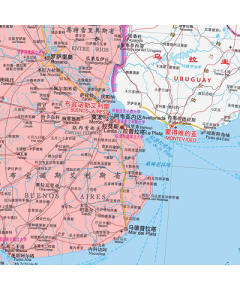 《世界热点国家地图·智利