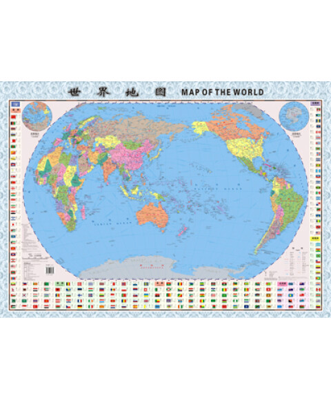 《2012世界地图(中英文对照)》采用中