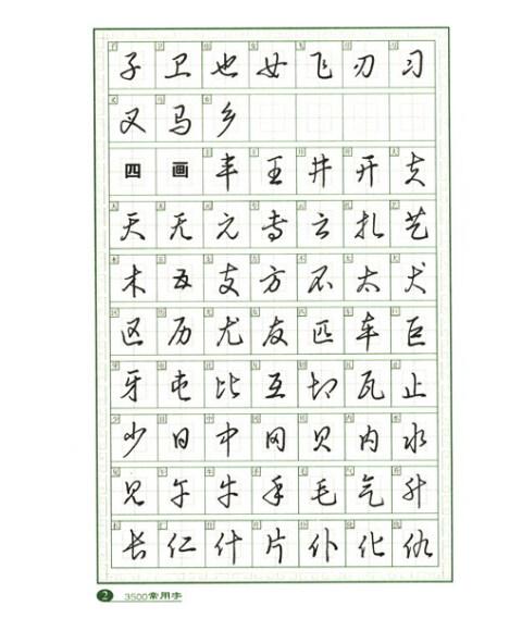 3500常用字钢笔草书字帖图片