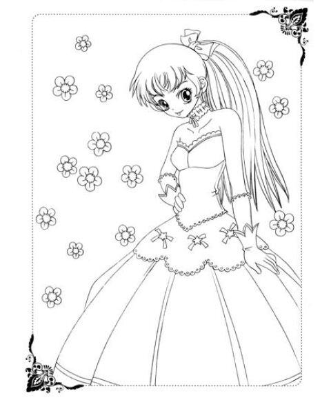 《美少女画画填色书:梦幻公主礼服秀》【摘要
