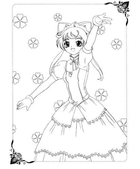 美少女画画填色书:梦幻公主礼服秀 [3-6岁]