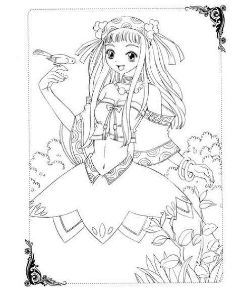 美少女画画填色书:cosplay戏装秀 [3-6岁]
